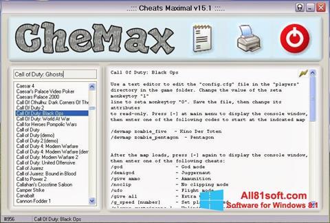 Screenshot CheMax for Windows 8.1