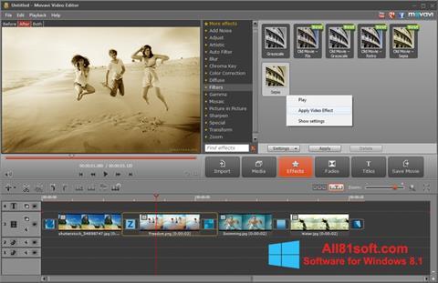 Screenshot Movavi Video Editor for Windows 8.1